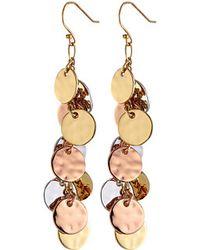 Kate Spade Lucky Penny Charm Earrings - Lyst