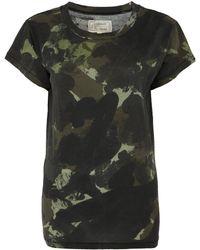 Current/Elliott Green Army Camouflage Print T-shirt