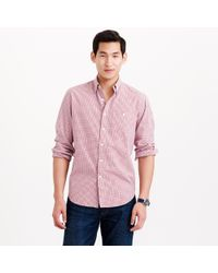 J.Crew Jaspé Cotton Shirt in Rustic Blue Check - Lyst