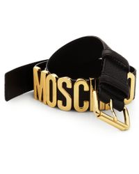 Moschino Side Logo Leather Belt - Lyst