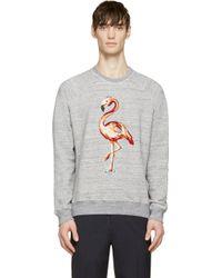 Marc Jacobs Grey Melange Sequin Flamingo Sweatshirt gray - Lyst