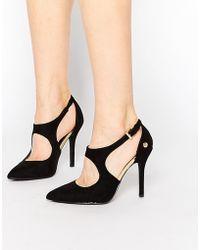 Blink Tassel Sling Heeled Shoes - Black