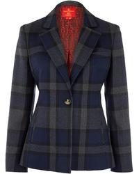 Vivienne Westwood Red Label  Savile Check Wool Jacket - Lyst