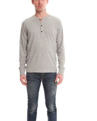 Rag & Bone Perfect Jersey Henley gray - Lyst