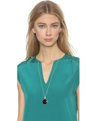 House of Harlow 1960 - Reversible Hexes Pendant Necklace - Black - Lyst
