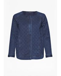 French Connection Quilted Denim Jacket - Lyst