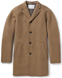 Kolor Unstructured Wool And Cashmere-Blend Coat - Brown