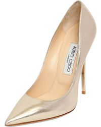 Jimmy Choo 120Mm Anouk Etched Leather Pumps - Lyst
