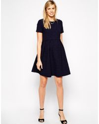 Asos Maternity Skater Dress with Paperbag Waist in Texture - Lyst