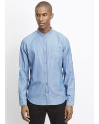 Vince | Melrose Stand Collar Button Up | Lyst