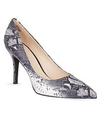 Nine West Flax 3 Snake-Print Court Shoes - For Women - Lyst