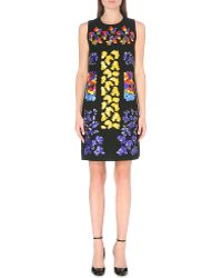 Peter Pilotto Embellished Wool Shift Dress - Lyst