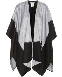 Balenciaga Cashmere And Wool Poncho - Black