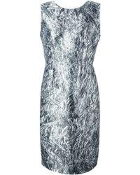 McQ by Alexander McQueen Foil Print Dress - Lyst