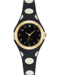 Kate Spade Womens Rumsey Black and White Polka Dot Plastic Bracelet Watch 30mm - Lyst
