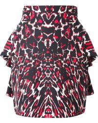 McQ by Alexander McQueen Leopard Print Peplum Skirt - Lyst