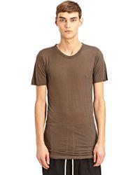 Rick Owens New Season - Mens Basic Short Sleeved T-shirt - Lyst