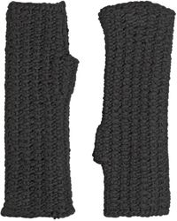 Dolce & Gabbana - Wool Knit Fingerless Gloves - Lyst