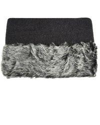 Topshop Hybrid Knit Scarf - Lyst