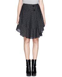 Chloé Ruffle Woolblend Skirt - Lyst