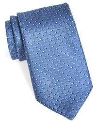 Michael Kors Woven Silk Tie - Blue