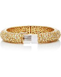 Nina Runsdorf - One Of A Kind 18k Yellow Gold Diamond Bangle - Lyst