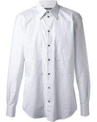 Dolce & Gabbana Geometric Paneled Shirt - Lyst