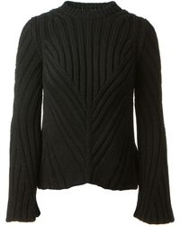 Alexander McQueen Black Wool and Cashmere Pullover - Lyst