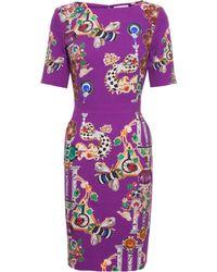 Mary Katrantzou Harlie Stretch Wool Dress - Lyst