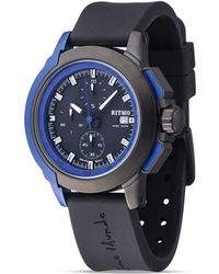 Ritmo Mundo - Quantum Ii Collection Stainless Steel And Blue Aluminum Watch, 43mm - Lyst