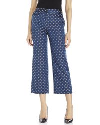 Suno Woven Floral Print Cropped Pants blue - Lyst