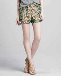 Textile Elizabeth And James Jody Floralprint Shorts - Lyst