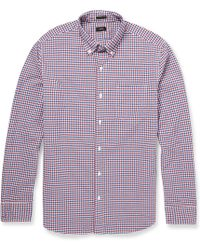 J.Crew Slimfit Check Cotton Buttondown Collar Shirt - Lyst
