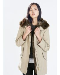 Zara Parka with Detachable Fur - Lyst