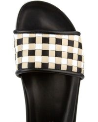 Sportmax - Porfido Woven-leather Slides - Lyst