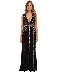 BCBGMAXAZRIA Hilaria Vneck with Bias Detail Gown - Lyst