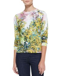 Ted Baker Damila Pretty Trees Print Sweater - Lyst
