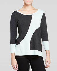 Nydj Dot Intarsia Sweater - Lyst