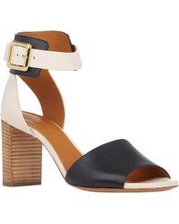 Chloé Bi-Color Ankle-Strap Sandals - Lyst