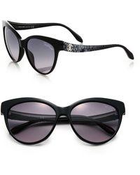Roberto Cavalli Printed 58Mm Cat'S-Eye Sunglasses - Lyst