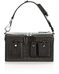 Alexander Wang Runway Survival Box in Black with Rhodium - Lyst