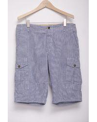 Rag & Bone Cargo Short In Blue Gingham blue - Lyst