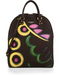 Burberry Hand-Painted Nubuck Top-Handle Bag - Lyst