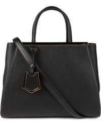 Fendi 2Jours Small Saffiano Leather Tote - For Women - Lyst