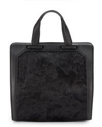 Pour La Victoire Servant Calf Hair & Leather Tote Bag - Lyst