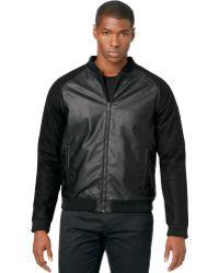 Calvin Klein Ck One Wool Mix Ultraslimfit Baseball Jacket - Lyst
