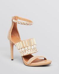 Rachel Roy Open Toe Platform Sandals Padma High Heel - Natural