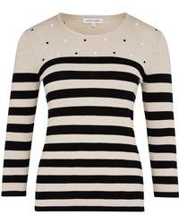 Austin Reed - Embroidered Spot Stripe Jumper - Lyst
