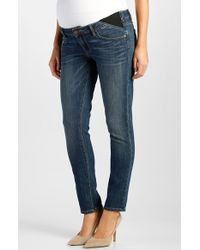 Paige 'Skyline' Ankle Peg Maternity Jeans With Side Gussets - Lyst