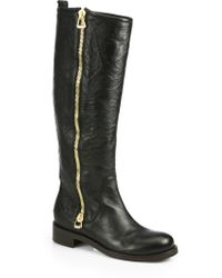 Jimmy Choo Doreen Crinkled Leather Knee-High Boots - Lyst